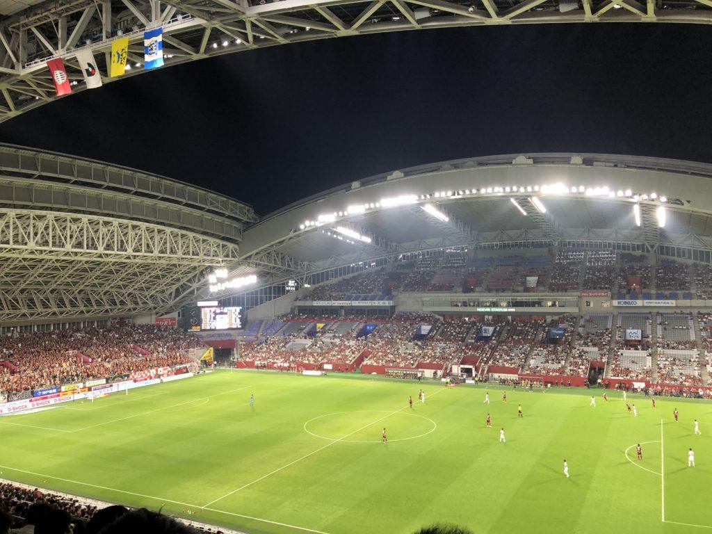 ノエビアスタジアム神戸 SA席よりの眺め
